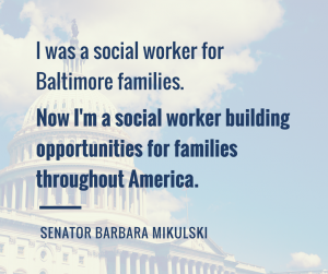 Social Worker Thought Leaders: Barbara Mikulski
